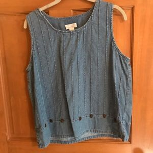 Christopher &Banks denim top XL